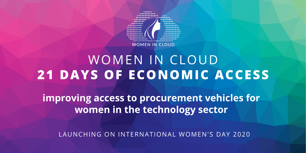 Giovanna featured in Women in Cloud's $1 billion economic access campaign (March 6 – 27, 2020)