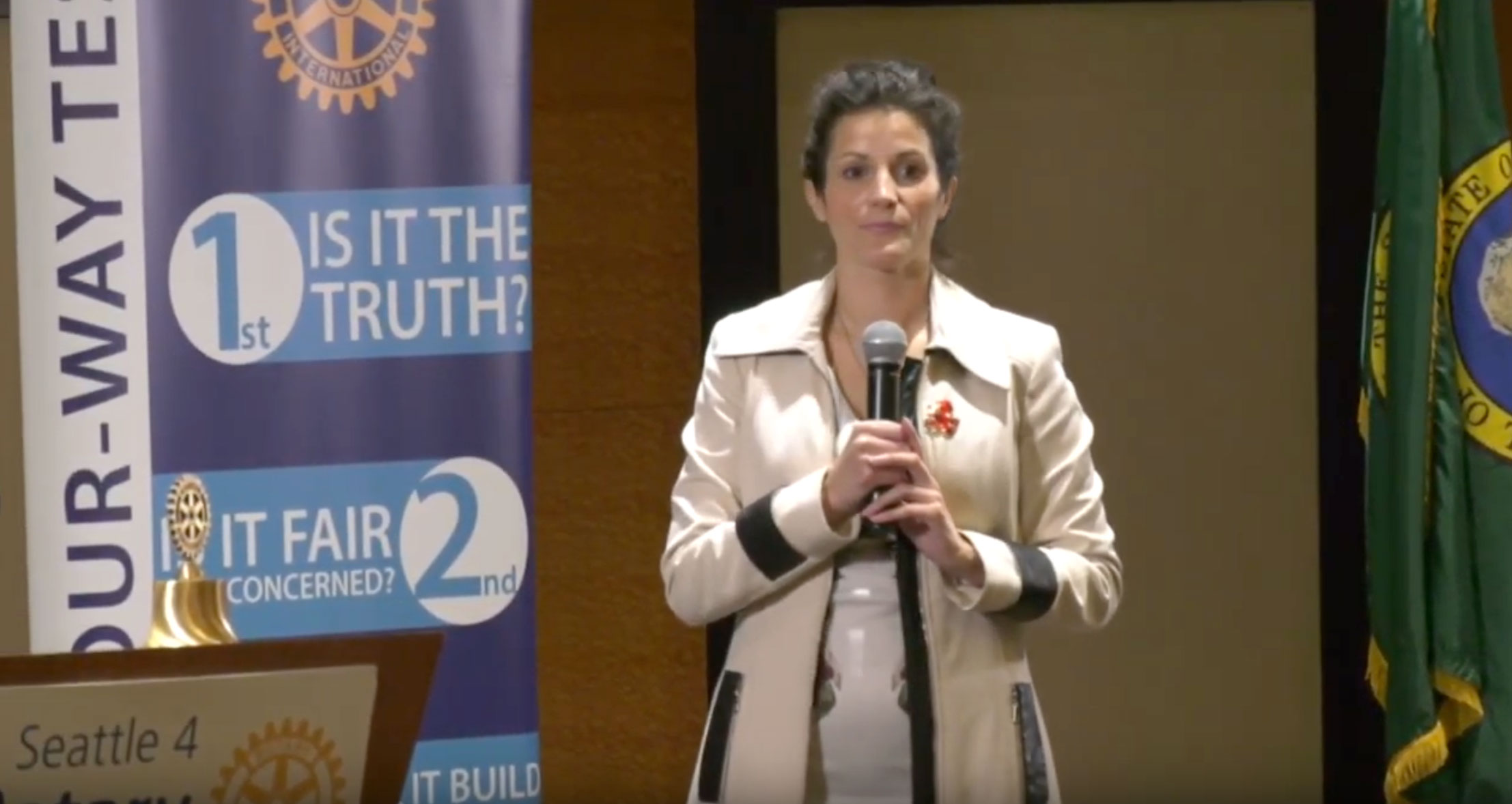 "Presentation to Seattle Rotary Club: ""Transforming the world through positive action, from kindness to climate change"""
